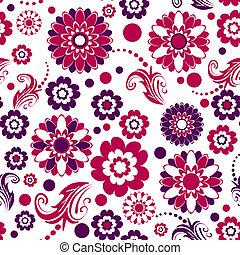 seamless, 꽃 본, (vector)