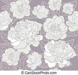 seamless, 꽃, 패턴