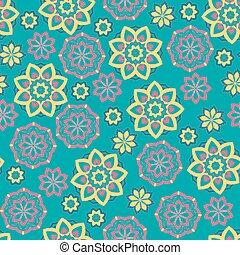 seamless, 꽃, pattern.