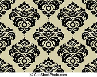 seamless, 다마스크 천, 패턴