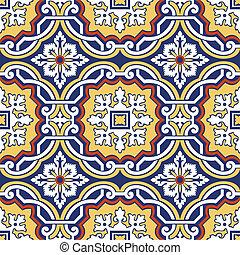 seamless, 색채가 풍부한, 장식, 타일