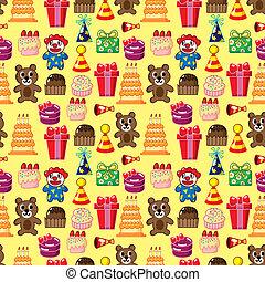 seamless, 생일, 패턴