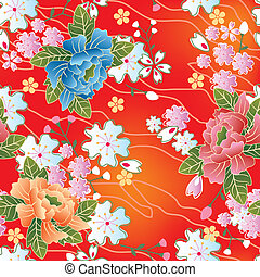 seamless, 일본어, 전통적인, patte