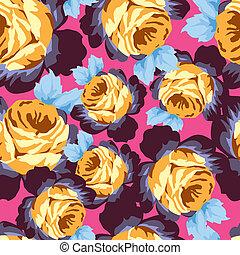 seamless, 장미, 패턴