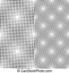seamless, 점, 패턴, (vector)