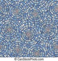 seamless, 패턴, 대리석, mosaic.