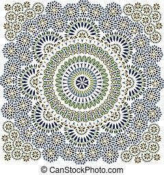 seamless, 패턴, 에서, 모자이크, 소수 민족의 사람, style.