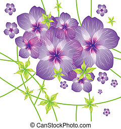 seamless, 패턴, 와, 꽃