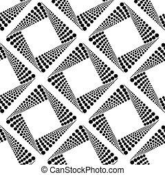 seamless, 패턴, 와, 정방형, 벡터, 삽화