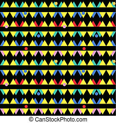 seamless, 포도 수확, 떼어내다, 패턴, 와, 삼각형, 에서, 그만큼, 스타일, 의, 80's., 유행, 배경, 에서, memphis.