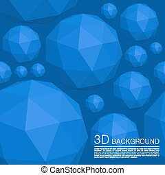 Seamless 3d balls polygons