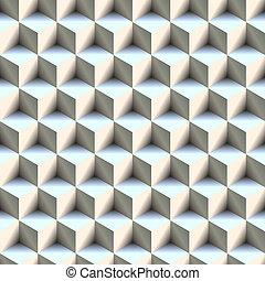 Seamless 3D Boxes Pattern