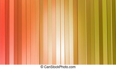 Seamless 3d geometric background in modern geometric style low poly with bright gradient colors. 4k clean red orange low poly 3d animation in loop. curtains 2