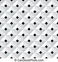 Seamless 3d geometric pattern. - Seamless 3d checked...