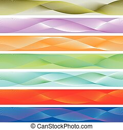 Seamless abstract background for baner colored waves