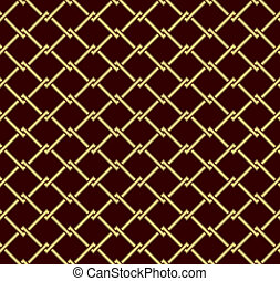 Seamless abstract background. Gold grid on a dark red background.