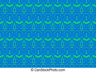 Seamless abstract background in blue and green tones
