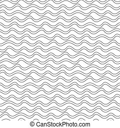 Seamless abstract background of wavy lines. Vector pattern...