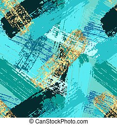 Seamless abstract background pattern with paint strokes. Vector