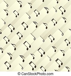 Seamless abstract background with notes of different ...