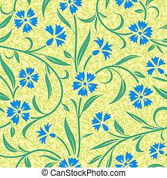 seamless abstract blue cornflower background
