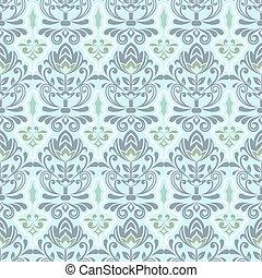 Seamless abstract blue grey flower vector wallpaper.