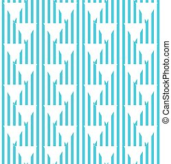 Seamless abstract blue striped triangles pattern