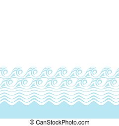 Seamless abstract blue wave texture (Vector bacground).