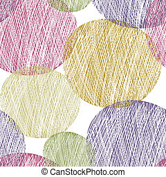 Seamless abstract circle pattern