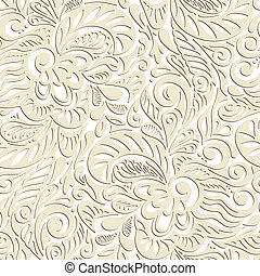 Seamless abstract curly floral pattern