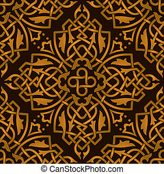 Seamless abstract decoration pattern
