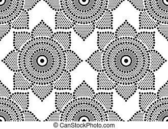 Seamless abstract dotted pattern