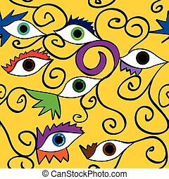Seamless abstract eye pattern;