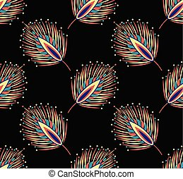 Seamless abstract feather pattern