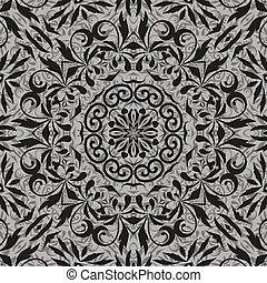 Seamless abstract floral outline pattern