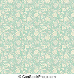 Seamless abstract floral pattern background