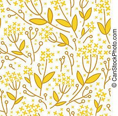 Seamless abstract floral pattern on white background