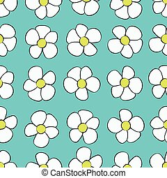 Seamless Abstract Flower Background Pattern.