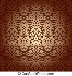 Seamless abstract flowers baroque background