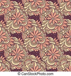 seamless abstract flowers pattern.
