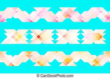 Seamless abstract folk embroidery pattern.