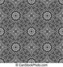 Seamless abstract garden mandala mosaic pattern background art