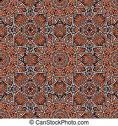 Seamless abstract geometric floral pattern