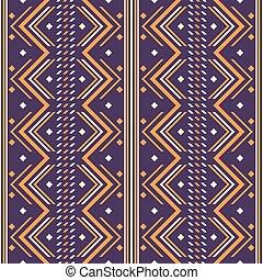 Seamless abstract geometric folk style pattern