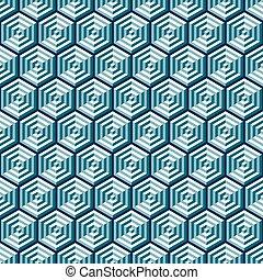 Seamless Abstract Geometric Optical Illusion Pattern