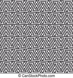 Seamless abstract geometric pattern. Black and white texture...