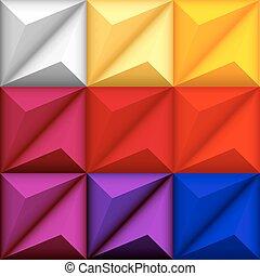 seamless, abstract, geometrisch, achtergrond, veelkleurig