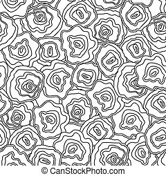 Seamless abstract hand drawn pattern, vector background