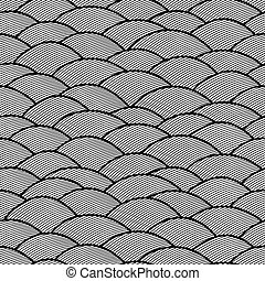 Seamless abstract hand drawn pattern, waves background