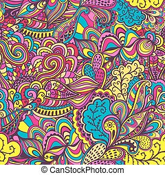 Seamless abstract hand-drawn waves pattern, wavy background. Tha